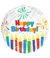 #  Happy Birthday Sparking Candles(white)