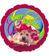 #7 Happy Birthday dog party hat