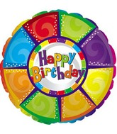 #4 Happy Birthday colorful pieces