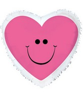 #25 Pink Smiley Heart