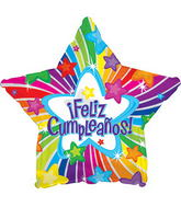 SOLD OUT  Feliz Cumpeanos Star Balloon