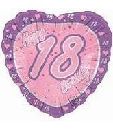 #17 Happy 18th Birthday Pink Heart